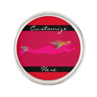 swimming pink mermaid lapel pin