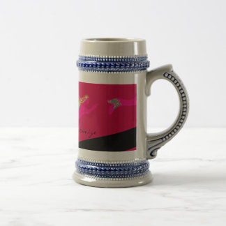 swimming pink mermaids beer stein