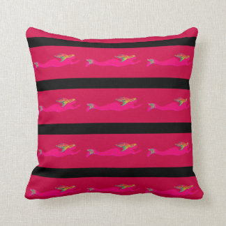 swimming pink mermaids Thunder_Cove Cushion