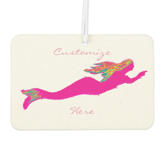 swimming pink mermaids white car air freshener