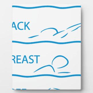 swimming plaque