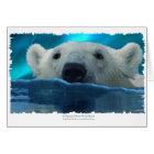 SWIMMING POLAR BEAR CARD
