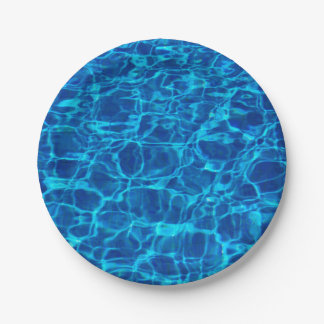 Swimming Pool 7 Inch Paper Plate