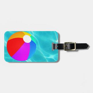 Swimming Pool Beach Ball Luggage Tag