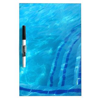 Swimming pool dry erase white board