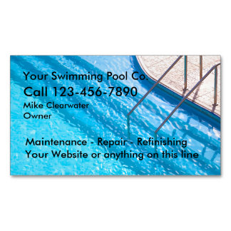 Swimming Pool Service Business Magnets Magnetic Business Cards