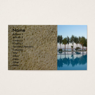 Swimming pool view business card