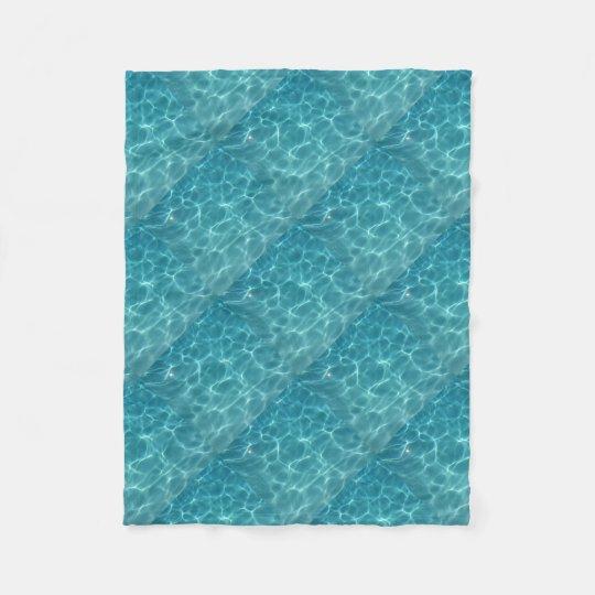 Swimming Pool Water Fleece Blanket