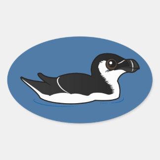 Swimming Razorbill, basic Oval Sticker
