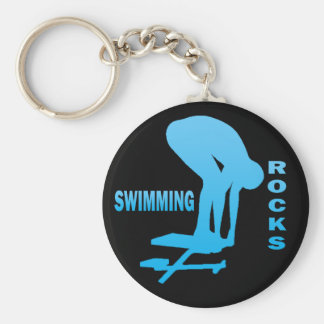 SWIMMING ROCKS BASIC ROUND BUTTON KEY RING