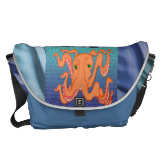 Swimming Sampson The Octopus Courier Bags