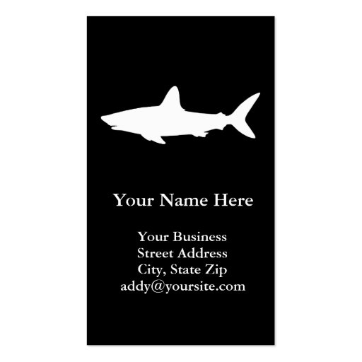Swimming Shark Pack Of Standard Business Cards