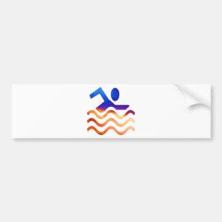 Swimming Success - Cool mind in hot times Bumper Sticker