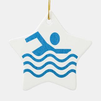 Swimming Success Swim Swimmer 101 Ceramic Ornament