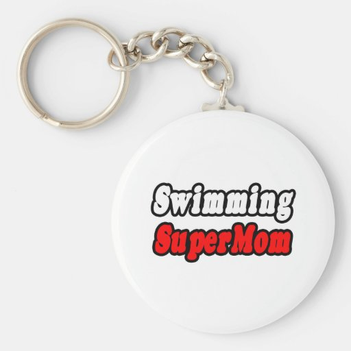 Swimming SuperMom Keychains