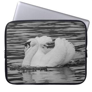 Swimming Swan Laptop Sleeve