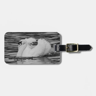 Swimming Swan Luggage Tag