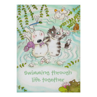 Swimming through life together posters