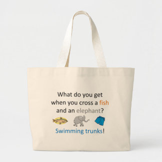 Swimming Trunks Joke Large Tote Bag