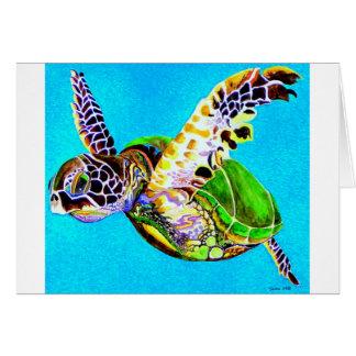 Swimming Turtle Card