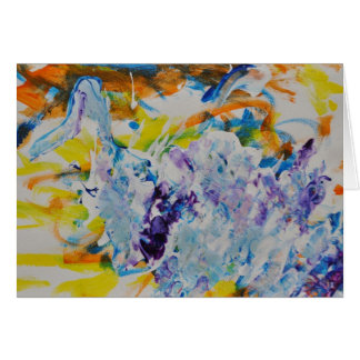 """Swimming Upstream"" Greeting Card"