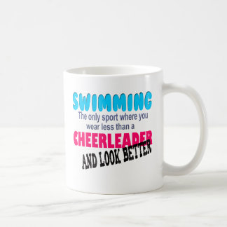 Swimming vs Cheerleading Coffee Mug