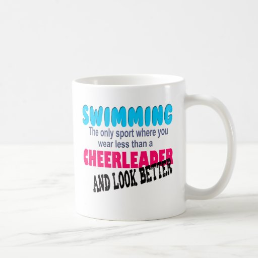 Swimming vs Cheerleading Mugs