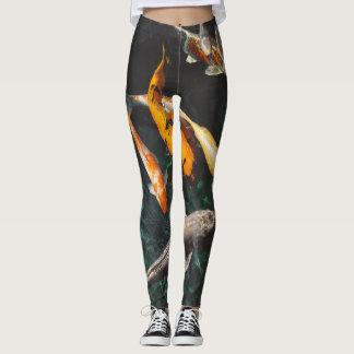 swimming with goldfish leggings