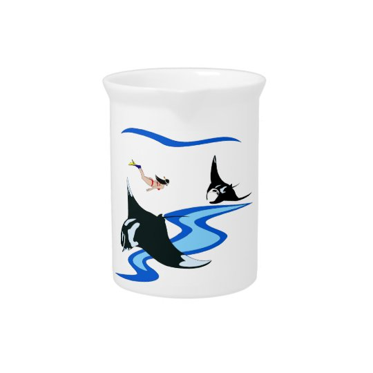 Swimming with Manta Beverage Pitchers
