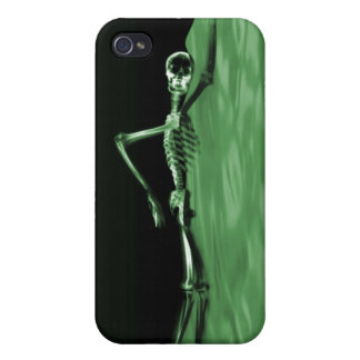 Swimming X-Ray Skeleton - Green Lake Case For iPhone 4