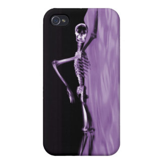 Swimming X-Ray Skeleton - Purple Lake iPhone 4/4S Cover