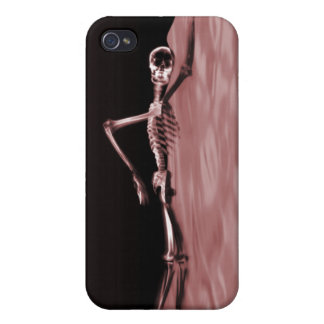 Swimming X-Ray Skeleton - Red Lake Case For iPhone 4