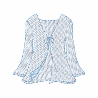 Swimsuit Cover-up Embroidered Shirt