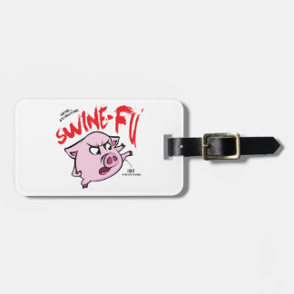 Swine Fu Humor Luggage Tag