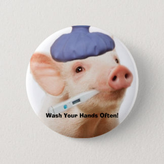 Swine H1N1 6 Cm Round Badge