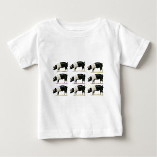 swine in a row baby T-Shirt