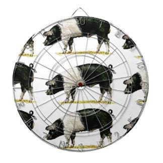 swine in a row dartboard