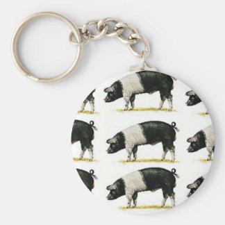 swine in a row key ring