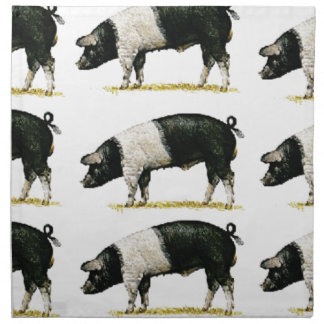 swine in a row napkin
