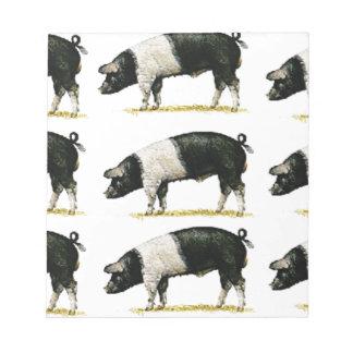 swine in a row notepad