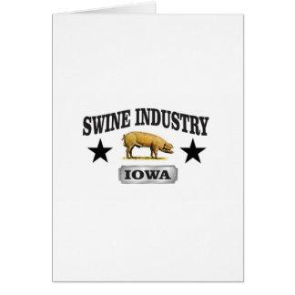 swine industry baby card