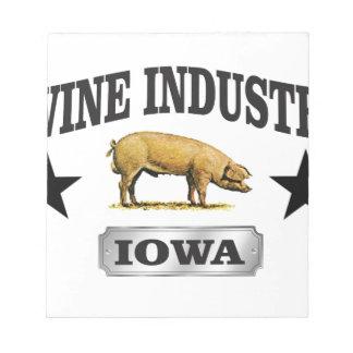 swine industry baby notepad