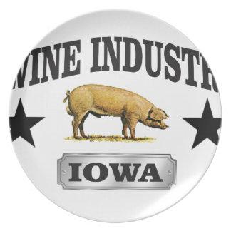 swine industry baby plate
