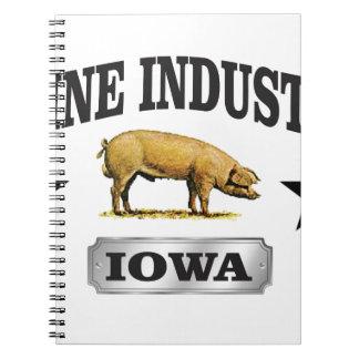 swine industry baby spiral notebook