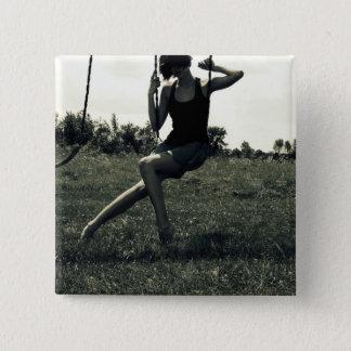 Swing 15 Cm Square Badge