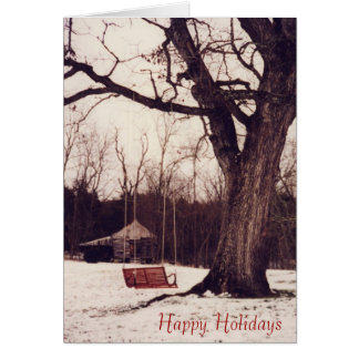 swing and snow, Happy Holidays Card