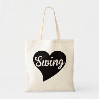 Swing Big Heart Jade Tote Bag