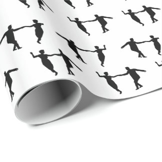 Swing Dance Couple Silhouettes Gift Wrapping Paper