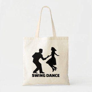 Swing dance tote bag