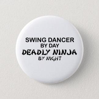 Swing Dancer Deadly Ninja by Night 6 Cm Round Badge